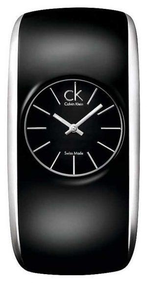 Calvin Klein Gloss Womens All Black Small Watch K6095101