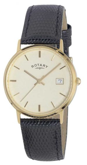 Rotary Mens 9ct Gold Case Precious Metals GS11476/03