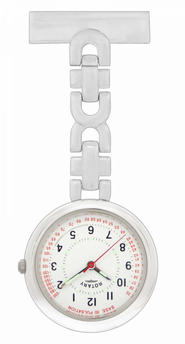 Rotary Nurses Fob Watch Stainless Steel LPI00616 LP00616
