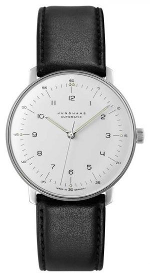 Junghans Max Bill Automatic Black Leather 027/3500.04
