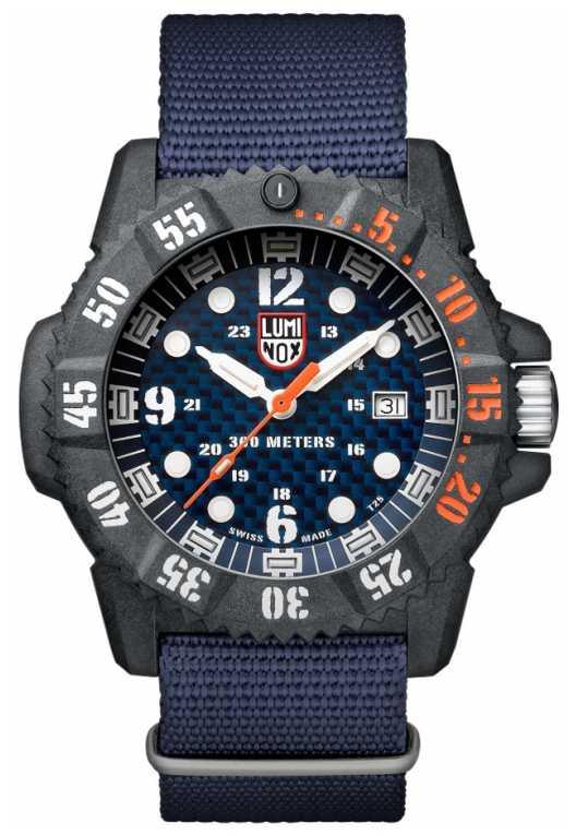 Luminox Men's Carbon Seal 3800 Blue Dial Blue Webbing Strap XS.3803.C