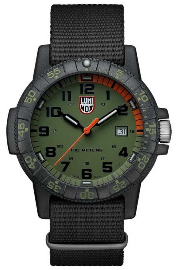 Luminox Leather Back Sea Turtle 0320 Giant Black Green XS.0337