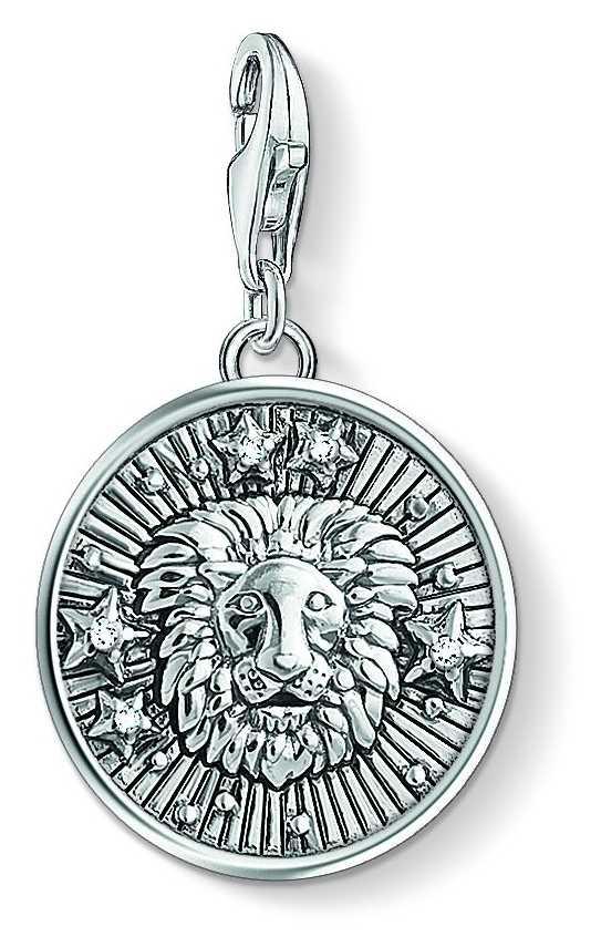 Thomas Sabo Zodiac Sign Leo Sterling Silver Blackened Zirconia 1644-643-21
