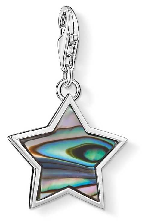 Thomas Sabo Star Abalone Mother-of-pearl Turquoise Charm 1533-509-7