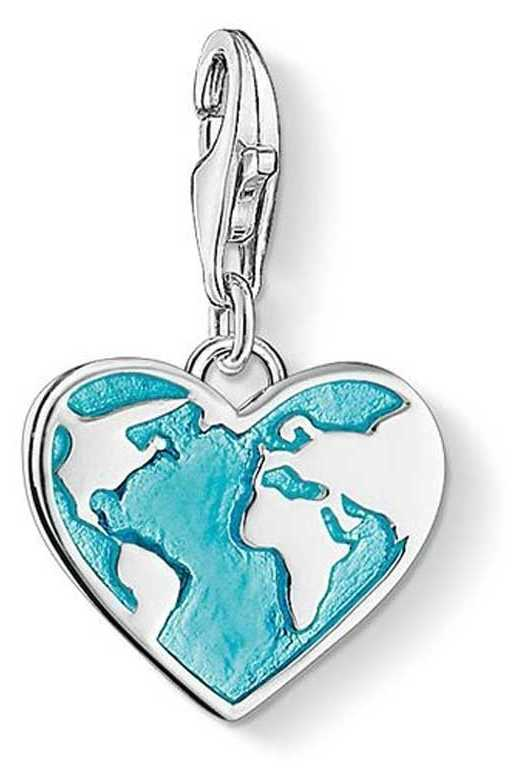 "Thomas Sabo Charm Pendant ""Heart Globe"" 1429-007-17"