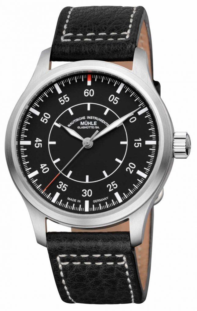 Muhle Glashutte Terrasport I Observer Leather Band Black Dial M1-37-34/4-LB