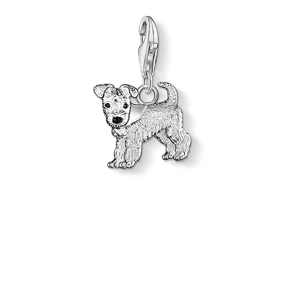 Thomas Sabo Dog Charm 925 Sterling Silver Cold Enamel 0841-007-12