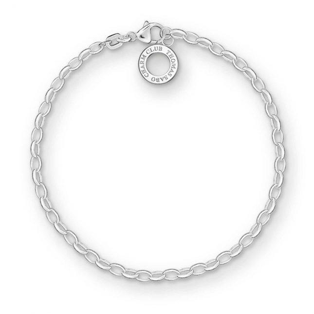 Thomas Sabo Bracelet 19cm Charm Carrier 925 Sterling Silver X0163-001-12-L