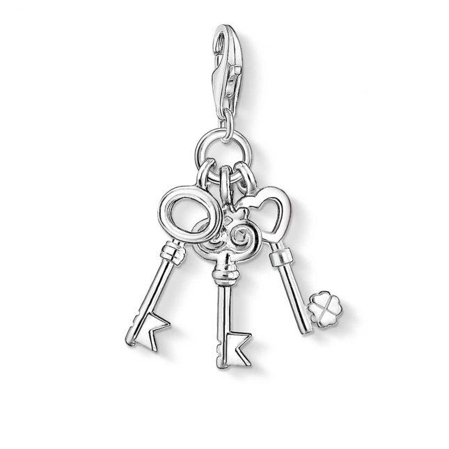 Thomas Sabo Keys Charm 925 Sterling Silver 0749-001-12