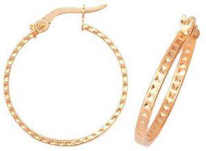James Moore TH 9k Yellow Gold Hoop Earrings 20 mm ER653