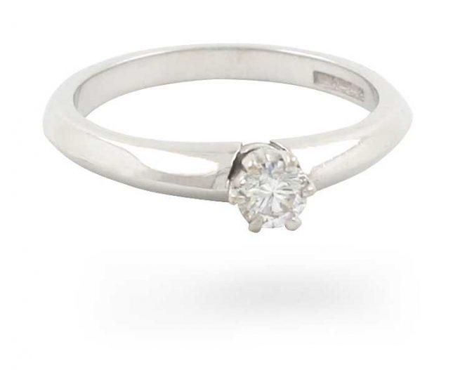 18k W/gold 0.29ct Diamond Ring JM4302