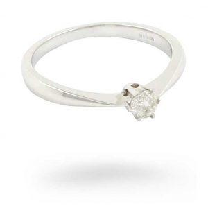 18k W/gold 0.21ct Diamond Ring JM3536