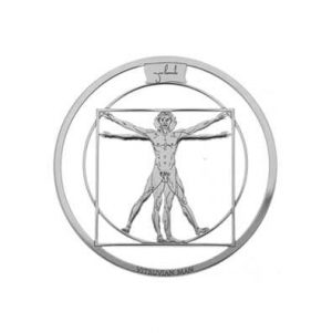MY iMenso Vitruvian Man Cirkel Cover 33mm Insignia (925/Rh 33-0886