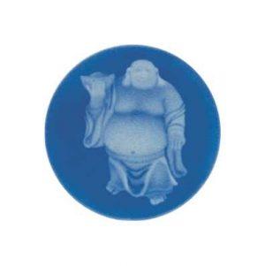 MY iMenso Buddha Agate Cameo 33mm Insignia (Blue) 33-0133
