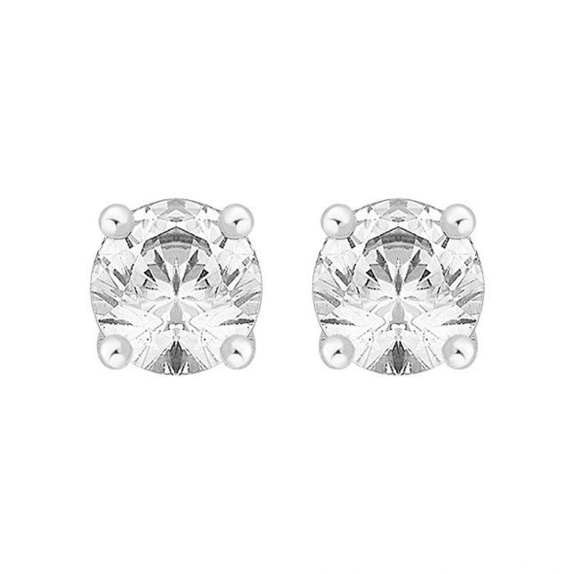 Perfection Crystals Single Stone Four Claw Stud Earrings (1.50ct) E0150-SK