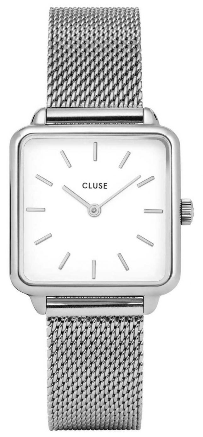 CLUSE Womens La Garconne White Dial Stainless Steel Mesh Bracelet CW0101207003