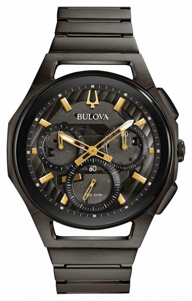 Bulova Men's Curv Gunmetal Pvd Plated Watch 98A206