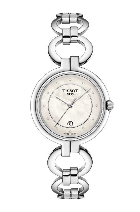 Tissot Womens Flamingo Stainless Steel Mother of Pearl Dial T0942101111600