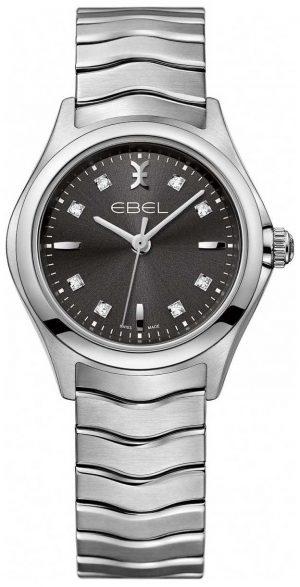 EBEL Women's Diamond Anthracite Dial Stainless Steel Bracelet 1216316