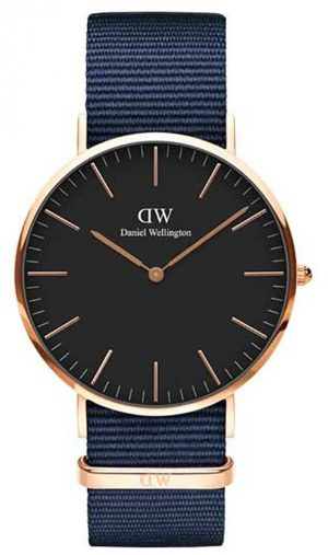 Daniel Wellington Classic Bayswater 40 Rose Gold Black Dial DW00100277