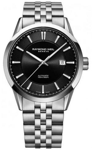 Raymond Weil Mens Freelancer Automatic Stainless Steel Bracelet 2731-ST-20001