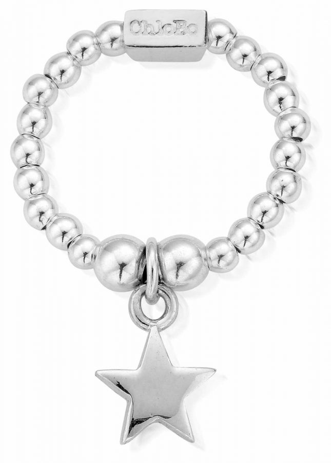 ChloBo Sterling Silver Mini Star Ring Medium SRM2806