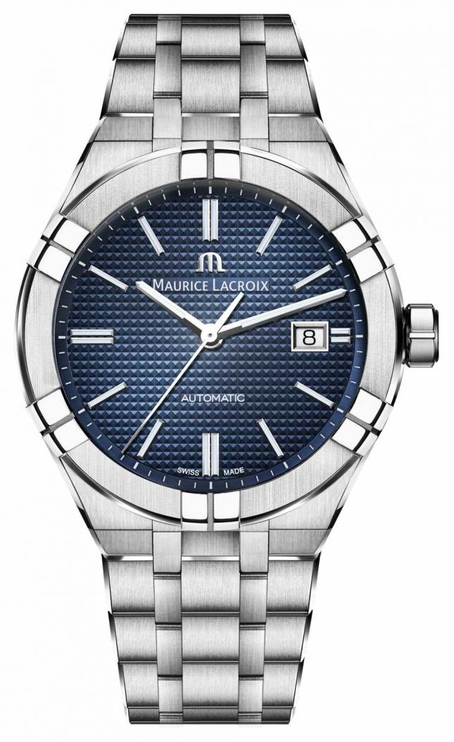 Maurice Lacroix Aikon Automatic 42mm Stainless Steel Blue Dial Watch AI6008-SS002-430-1