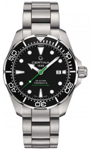 Certina Men's DS Action Diver 43mm Powermatic 80 C0324071105102
