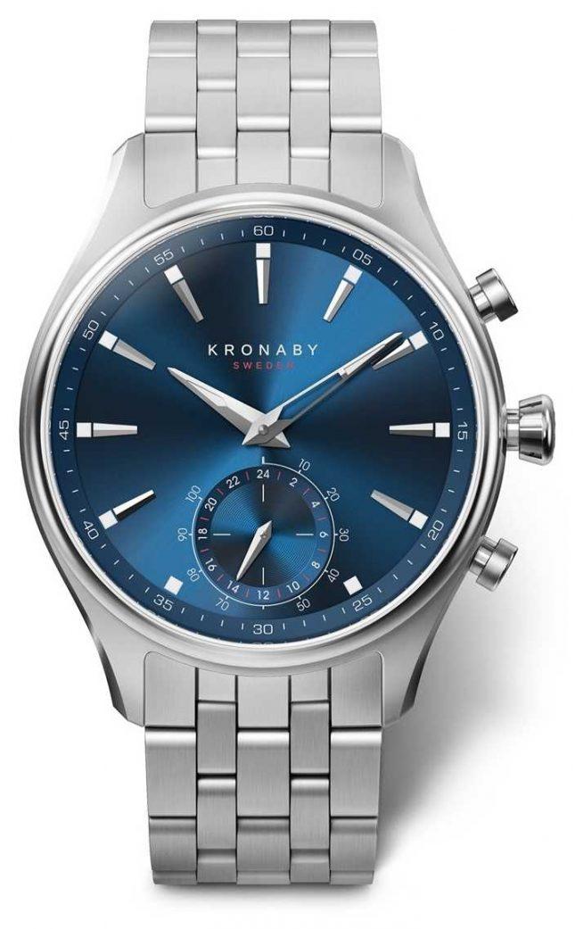 Kronaby 41mm SEKEL Blue Dial Stainless Steel Bracelet A1000-3119 S3119/1