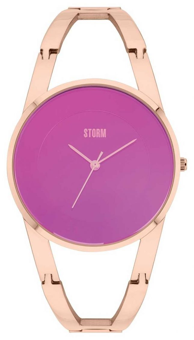 STORM Odesa Rose Gold Plated Purple Dial 47381/P