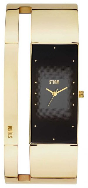 STORM Alvara Gold Plated Bangle Black Dial 47343/GD