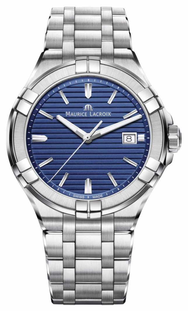 Maurice Lacroix Aikon Mens Stainless Steel Bracelet Blue Dial AI1008-SS002-431-1
