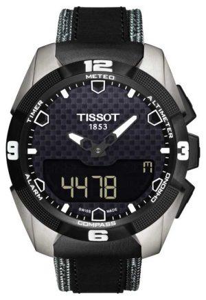 Tissot Mens T-Touch Expert Solar Titanium Twin Sensor Leather T0914204605101