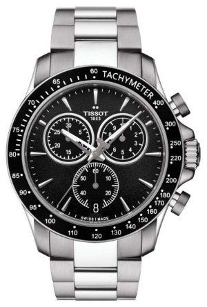 Tissot Mens V8 Quartz Chronograph Stainless Steel Black Dial T1064171105100