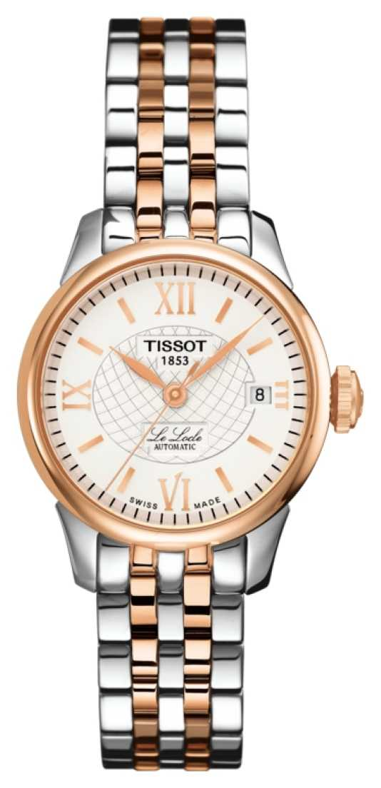 Tissot Womens Le Locle Automatic Two Tone Rose Gold PVD Plated T41218333