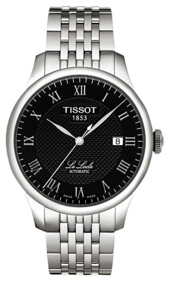 Tissot Mens Le Locle Powermatic 80 Black Dial Stainless Steel T0064071105300