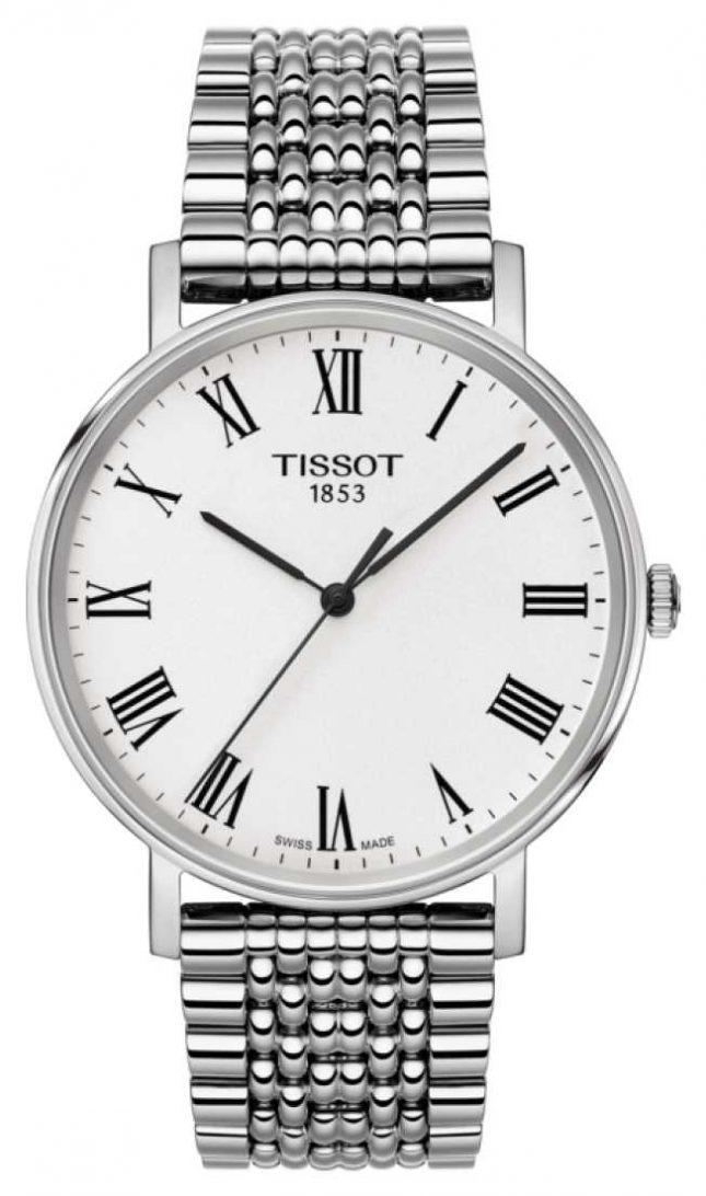 Tissot Mens Everytime Medium Sapphire Stainless Steel Bracelet T1094101103300