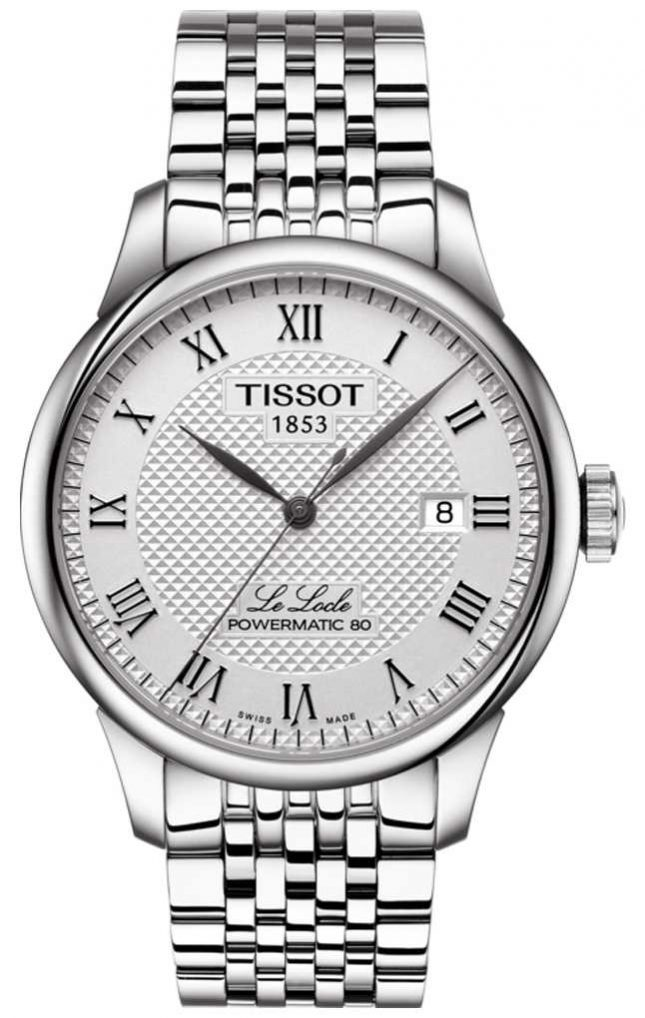 Tissot Mens Le Locle Powermatic 80 Automatic stainless steel watch T0064071103300