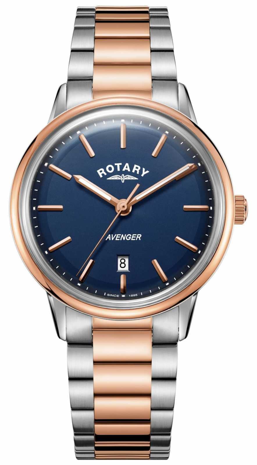 Rotary Mens Avenger Watch | Stainless Steel Bracelet | Blue Dial | GB05342/05