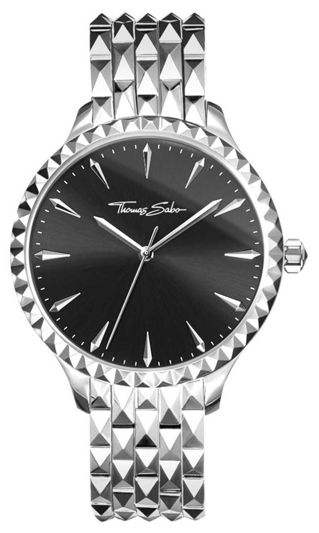 Thomas Sabo Womens Rebel At Hear Embossed Silver Stainless Steel WA0319-201-203-38