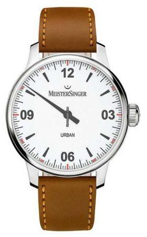 MeisterSinger Urban White Dial Opaline Silver UR901