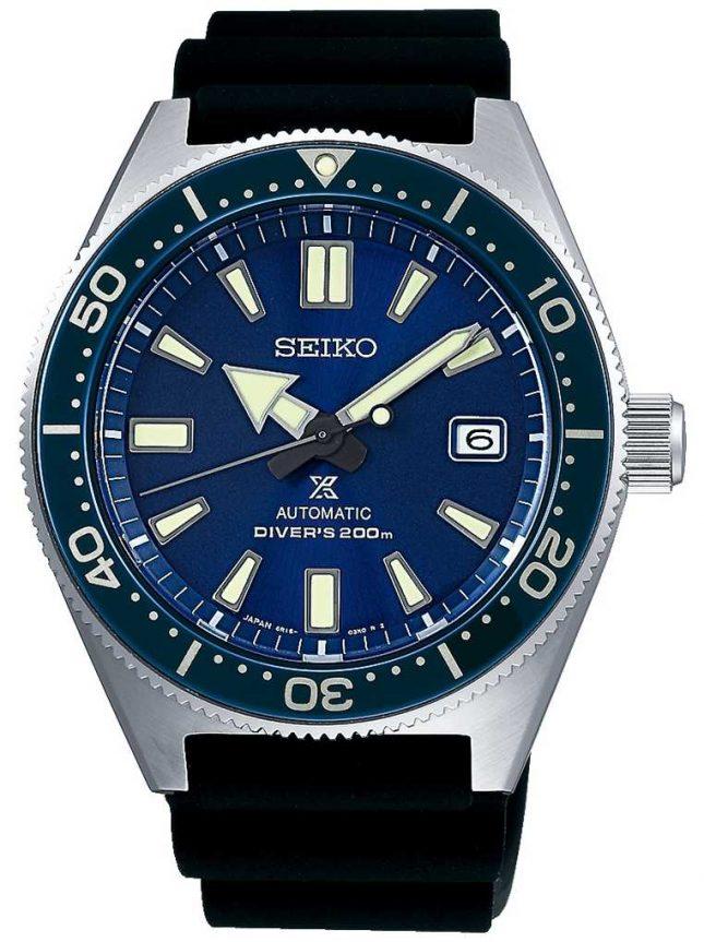 Seiko Prospex Sea Blue Dial Blue Bezel Screw Down Crown SPB053J1