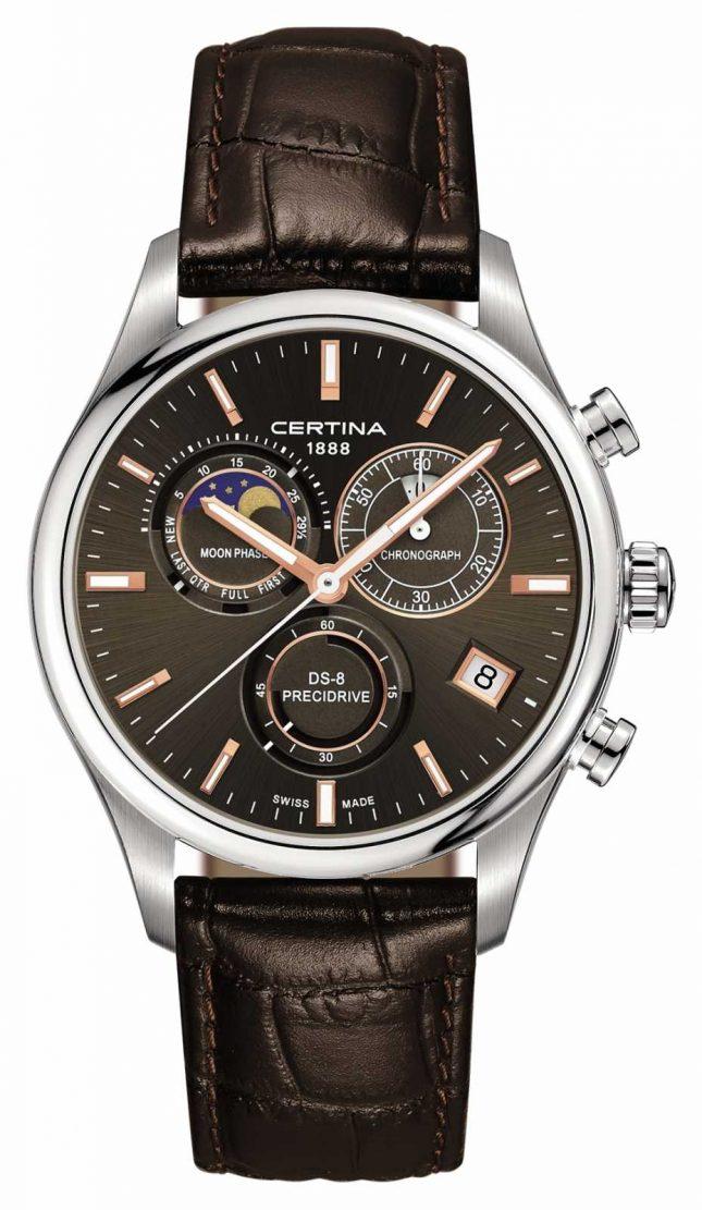 Certina Mens Ds-8 Precidrive Moonphase Chronograph Watch C0334501608100