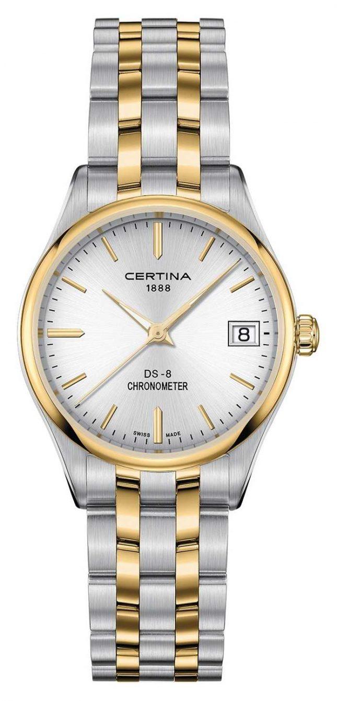 Certina Womens Ds-8 Quartz Chronometer Watch C0332512203100