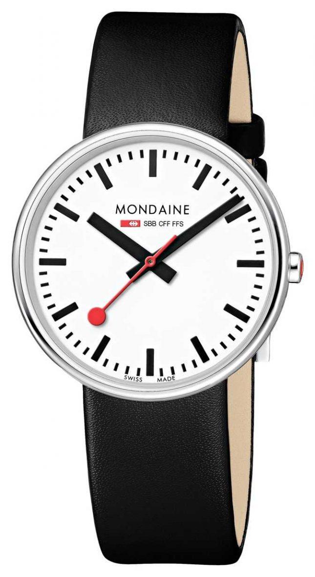 Mondaine Mini Giant  Black Leather Strap White Dial MSX.3511B.LB