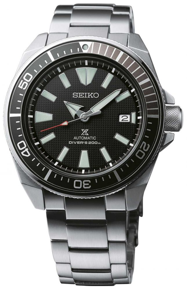 Seiko Prospex Samurai Patterned Dial Screw Down Crown Stainless SRPB51K1 SRPF03K1
