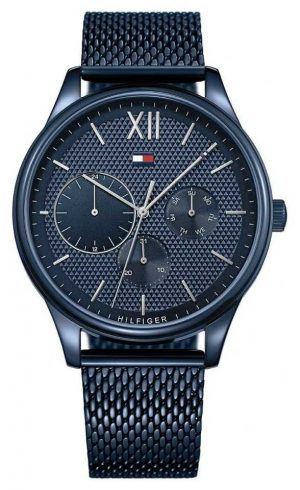 Tommy Hilfiger Damon   blue Mesh Bracelet   blue dial 1791421