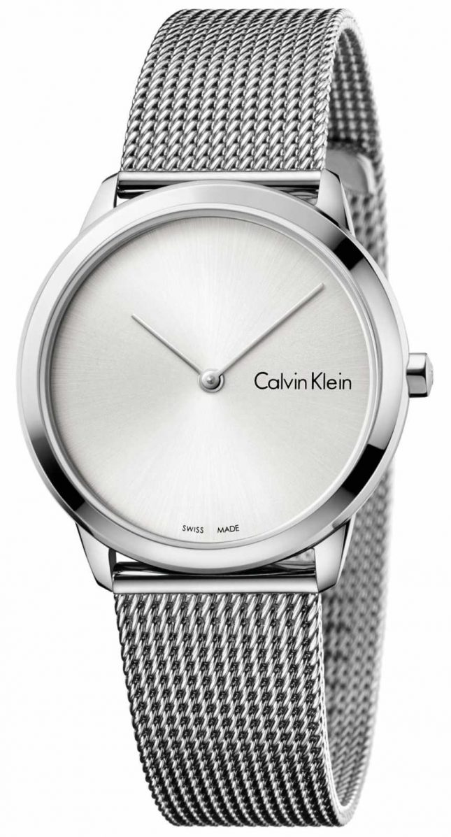 Calvin Klein Womans Minimal Watch Silver Dial K3M221Y6