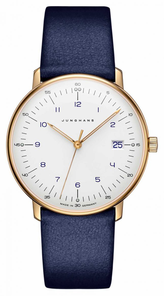 Junghans Max Bill Ladies Quartz | Blue Leather Strap | 047/7851.00