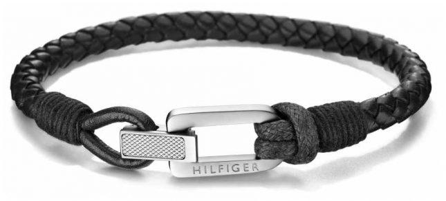 Tommy Hilfiger | Mens | Black Leather Bracelet | 2701012